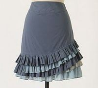 Skirts are necessities for spring and summer, so make a skirt that is completely unique and totally you! The Anthropologie Ruffled Skirt Tutorial is a beautiful