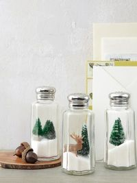 Christmas in a salt shaker. 24 DIY Christmas Decor Ideas