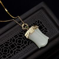 White Hetian Jade Necklace / Charm Necklaces /Woman 925 Silver Plated Necklace Ask a question