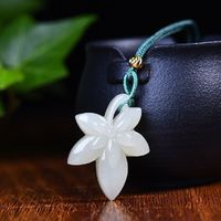 Jade pendant necklace -Exquisite Hetian Jade Maple Leaf Necklace - necklaces for women - Handmade Jewelry
