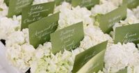 Love the idea of flowers in the placecard area, so it doesn't look so bare once they're all gone!!