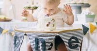 Simple, modern first birthday for Owen from Shannon Michele Photography   100 Layer Cakelet