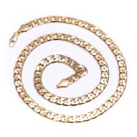 Men's Luxury 14k Gold Plated 6mm Look & Feels Real Hip Hop Bling Curb Chain Necklace £22.14