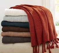 Bryson Knit Throw, would be amazing in the marine (mint) and sailor (navy)
