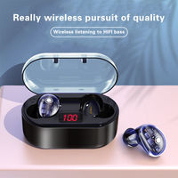 Bakeey X7 TWS Wireless bluetooth 5.0 Earphone HiFi Bass Active Noise Cancelling Touch Control Transparent Headphone with Mic