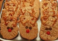 christmas peanut-butter cookies