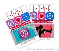 App Valentine by Making Life Whimsical | Skip To My Lou. Free printable gift card holder. #freeprintable #giftcardholder #valentinesday