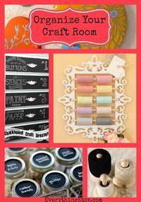 """Organize Your Craft Room�€""""8 Quick DIY Projects"""
