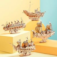 3D Wooden Puzzle Model Toys Ship Assembly kit Game ILS128.00