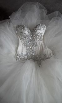 Pnina Tornai. Adore the tulle bottom with heavy beaded bodess. exactly what I would wear on my wedding day<3
