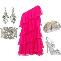 A fashion look from September 2011 featuring halston heritage dress, aldo sandals and silver clutches. Browse and shop related looks.