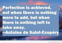 Achieving perfection quote