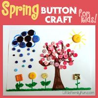 Spring Button Craft for Kids! ~ Little Family Fun