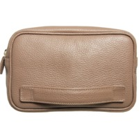 Grained Leather Dopp Kit Taupe $172.00