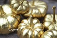 Make   Gilded Pumpkins   A Spot of Whimsy