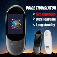 52 Language Smart Voice 2.4'' Instant Translator Bluetooth Speech Meeting Travel