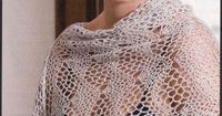 such a lovely crochet stole!! This stitch looks like knit - free pattern and diagram in English (even if the site is Russian)!