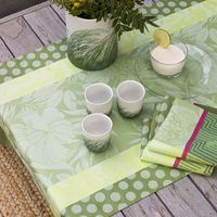 Nature Urbaine Green Coated Table Linens $235.00
