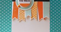 You Rock Card by Cristina Kowalczyk for Papertrey Ink (July 2013)
