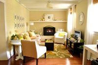 yellow living room from Young House Love...sooo cozy!