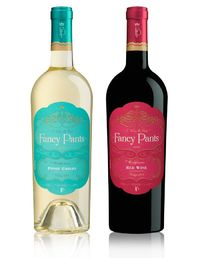 Fancy Pants is a great fit for the client, who wanted a package that captures the attention of younger female wine drinkers.