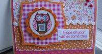 I love the way they layered the paper to showcase the cute owl. Owl sticker by ADORNit