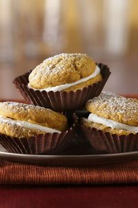 Sugar cookie mix, canned pumpkin and marshmallow creme in these delicious pumpkin cookies!