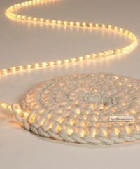 Light Carpet (light rope crocheted into a carpet)