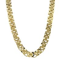 18k Gold Plated Solid Chain Byzantine Necklace £9.68