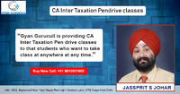 Gyan Gurucull is providing CA Inter Taxation Pendrive classes to that students who want to take class at anywhere at any time according to his convenience and comfortablility. Our expert faculty CA Jassprit Johar provides the best guidance, shares taxatio...
