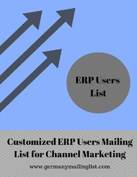 We are one of the leading data vending Company offering SAP ERP Users Email Database to help you reach out to various SAP ERP Technology Users and decision makers. We can supply updated, verified & opt-in list of SAP ERP users with complete contact de...