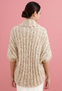 Free Crochet Pattern L20507B Simple Crochet Shrug : Lion Brand Yarn Company