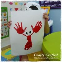 Hand and Foot Print Lobster art