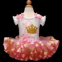 1st birthday girl outfit pink and gold birthday tutu dress princess first birthday tutu outfit princess 1st birthday tutu dress personalized $74.95