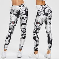 $2.5 Aliexpress - Punk Style Skull Leggings Women Printed Leggings High Waist Sports Skinny Workout Fitness Leggings 2020 Mujer Pants#20. Buy it from Aliexpress.com