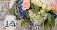 Vintage-inspired table numbers | Marni Rothschild Pictures | Charleston Stems
