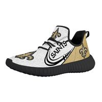 Custom Sneakers, Newest New Orleans Saints Printed 2 Designs Black n White Sole, Handmade Shoes, Mens Sneakers, Running Shoes, Yezzy Style,