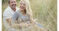 maternity images in a park/natural setting - tall grass