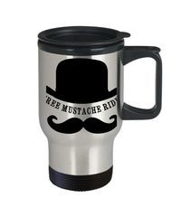 Free mustache rides a sexy ,dirty rude vulgar 14 oz stainless steel travel mug gag gift| batchelor party |batchelorette party | $20.95