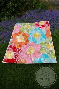 Sizzix Die Cutting Inspiration and Tips: Mega Grandmother's Garden Quilt (don't really need a Sizzix for this, but it sure would be nice!)
