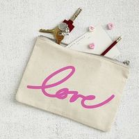 Valentine's Day Canvas Pouch - #Love #westelm #typography