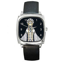 Art Deco Erte Venere in Pellicia Womens Silver Square Watch with Leather Band $32.00