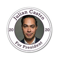 "Julian Castro For President 2020 Magnets one of each size 3""x3"", 4""x4"", and 6""x6"" $20.50"