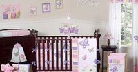"""Baby girl's bedding! Sweet Jojo Designs Pink and Purple Butterfly Collection 9-Piece Crib Bedding Set - Sweet JoJo Designs - Babies """"R"""" Us"""