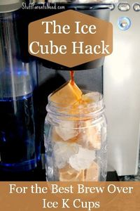 Such a smart tip for how to take your brew over ice k cups to the next level! Your iced coffee Keurig love is about to grow!