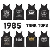 1985 Birthday Gift, Vintage Born in 1985 Tank tops for men Women 35th Birthday tops for him Her Made in 1985 Tanks 35 Year Old Birthday $19.99