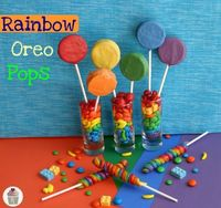 rainbow oreo pops..great for St. Patrick's Day or any colorful party