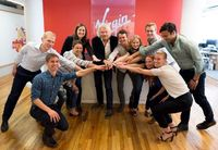 Richard Branson and the Virgin Sport team in New York