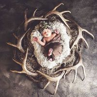 Best baby picture. Ever. #baby #antlers #familiesthathunt