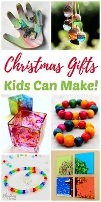 Unique beautiful gifts kids can make are always a favorite with family and friends. Easy DIY tutorials are provided with each gorgeous homemade craft.